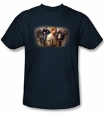 The Hobbit Shirt Movie Unexpected Journey Rally Adult Navy Tee T-shirt