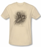 The Hobbit Shirt Movie Unexpected Journey Riddles Cream Slim Fit Tee