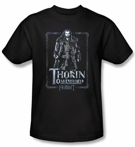 The Hobbit Shirt Movie Unexpected Journey Thorin Adult Black T-shirt