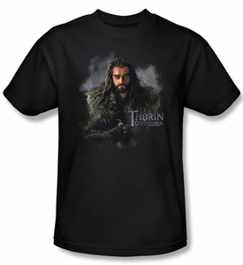 The Hobbit Shirt Movie Unexpected Journey Thorin Adult Black Tee