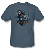 The Hobbit Shirt Movie Unexpected Journey Thorin Adult Slate T-shirt