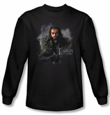 The Hobbit Shirt Movie Unexpected Journey Thorin Black Long Sleeve Tee