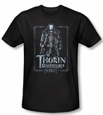 The Hobbit Shirt Movie Unexpected Journey Thorin Black Slim Fit Tee