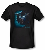 The Hobbit Shirt Movie Unexpected Journey Warg Black Slim Fit Tee
