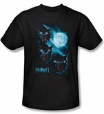 The Hobbit Shirt Movie Unexpected Journey Warg Moon Adult Black Tee