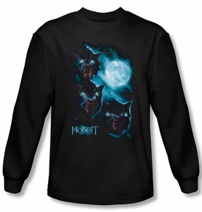 The Hobbit Shirt Movie Unexpected Journey Warg Moon Black Long Sleeve