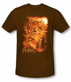 The Hobbit Shirt Unexpected Journey Adventure Coffee Slim Fit Tee