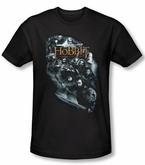 The Hobbit Shirt Unexpected Journey Characters Black Slim Fit Tee