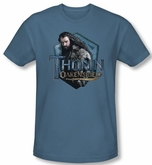The Hobbit Shirt Unexpected Journey Thorin Slate Slim Fit T-Shirt