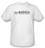 The Middle T-shirt TV Show Logo Adult White Tee Shirt