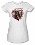 The Vampire Diaries Juniors T-shirt TV Show Girls Choice White Shirt