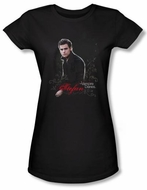 The Vampire Diaries Juniors T-shirt TV Show Stefan Black Shirt