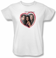 The Vampire Diaries Ladies T-shirt TV Show Girls Choice White Shirt