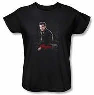 The Vampire Diaries Ladies T-shirt TV Show Stefan Black Shirt