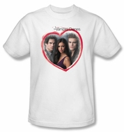 The Vampire Diaries T-shirt TV Show Girls Choice Adult White Tee Shirt