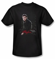 The Vampire Diaries T-shirt TV Show Stefan Adult Black Tee Shirt