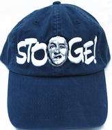 Three Stooges Hat - Curly Fine Embroidered Navy Hat
