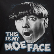 Three Stooges Moe Face Shirts
