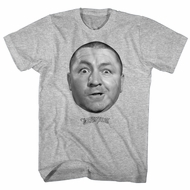 Three Stooges Shirt Curly Face Athletic Heather T-Shirt