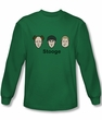 Three Stooges Shirt Stooges Kelly Green Long Sleeve Tee T-Shirt