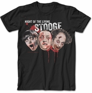 Three Stooges Shirt - Zombies Adult Black T-shirt
