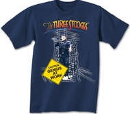Three Stooges T-shirt Curly Genius at Work Adult Navy Blue Tee Shirt