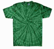 Tie Dye Kids Shirt Spider Kelly Green Youth Kids Tee