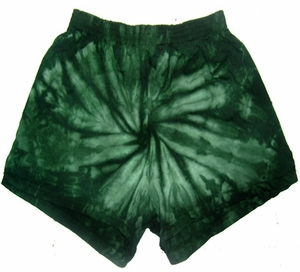 Tie Dye Kids Shorts Spider Green Youth Soffe Shorts