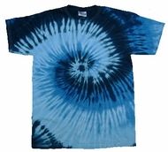 Tie Dye Kids T-shirt Blue Ocean Retro Vintage Groovy Youth Tee Shirt