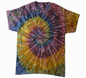 Tie Dye Kids T-shirt Galaxy Retro Vintage Groovy Swirl Youth Tee Shirt