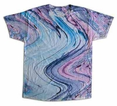 Tie Dye Kids T-shirt Marble 10 Groovy Purple Blue Youth Tee Shirt