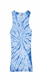 Tie Dye Kids Tank Top Spider Baby Blue Youth Soffe Tank Top