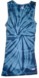 Tie Dye Kids Tank Top Spider Navy Vintage Groovy Youth Soffe Tanktop