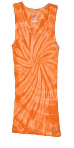 Tie Dye Kids Tank Top Spider Orange Youth Soffe Tank Top