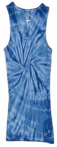 Tie Dye Kids Tank Top Spider Royal Youth Soffe Tank Top