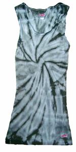 Tie Dye Kids Tank Top Spider Silver Youth Soffe Tank Top
