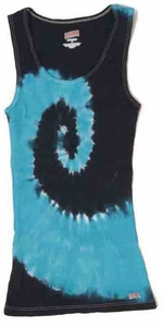 Tie Dye Kids Tank Top Spiral And Turquoise Youth Soffe Tanktop