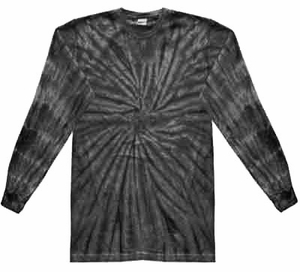 Tie Dye Long Sleeve Shirt Spider Black Tee