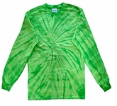 Tie Dye Long Sleeve Shirt Spider Lime Kids Tee