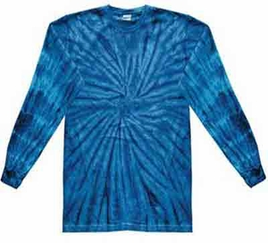 Tie Dye Long Sleeve Shirt Spider Royal Tee Shirt