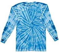 Tie Dye Shirt Spider Baby Blue Long Sleeve Tee Shirt
