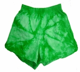 Tie Dye Shorts Spider Kelly Green Vintage Soffe Shorts