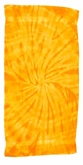 Tie Dye Spider Gold Retro Vintage Groovy Beach Towel