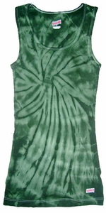 Tie Dye Spider Green Retro Vintage Groovy Adult Unisex Soffe Tank Top