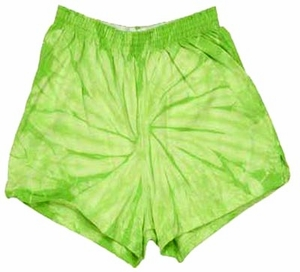 Tie Dye Spider Lime Retro Vintage Groovy Adult Unisex Soffe Shorts