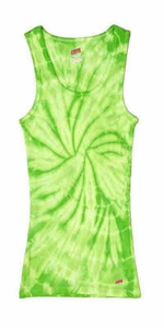 Tie Dye Spider Lime Retro Vintage Groovy Adult Unisex Soffe Tank Top