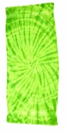 Tie Dye Spider Lime Retro Vintage Groovy Beach Towel