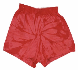 Tie Dye Spider Red Retro Vintage Groovy Youth Kids Unisex Soffe Shorts
