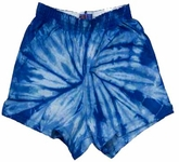 Tie Dye Spider Royal Retro Vintage Groovy Adult Unisex Soffe Shorts
