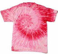 Tie Dye Spiral Pink Retro Vintage Groovy Youth Kids T-shirt Tee Shirt
